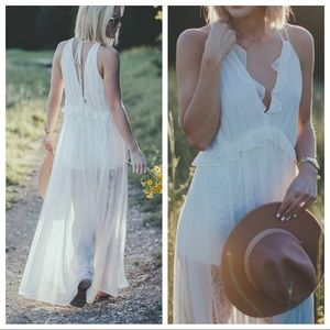 Express • Lace Maxi Dress/Romper